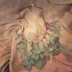 Seafoam accent necklace